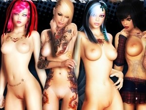 3D Bad Girls - FKK XXX Bilder