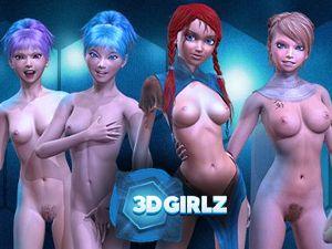 3D Girlz - Nackt XXX Porno Spiele