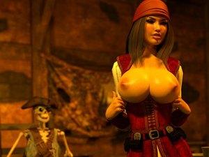 Pirate Jessica - Ungeheuer XXX Spiel